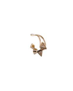 Piercing fake dourado com strass cristal Bezos