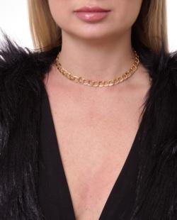 Gargantilha choker dourada Michele