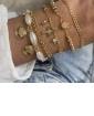 Mix de pulseiras douradas Pedrita