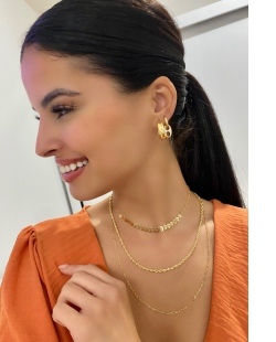 Mix de bijuterias douradas Tifan
