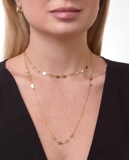 Mix de bijuterias e semijóias douradas Lumi