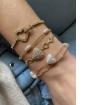 Mix de bijuterias e semijóias douradas Ashley