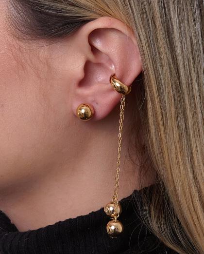 Mix de bijuterias e semijóias douradas Norabel