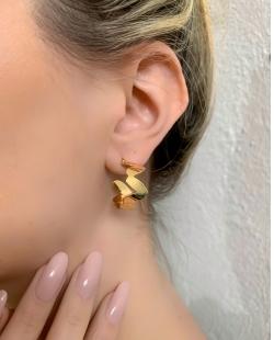 Argola dourada Elegance