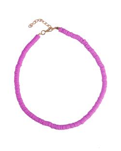 Choker disco fimo candy lilás