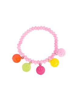 Pulseira smiley candy rosa