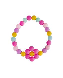 Pulseira candy color daisy rosa