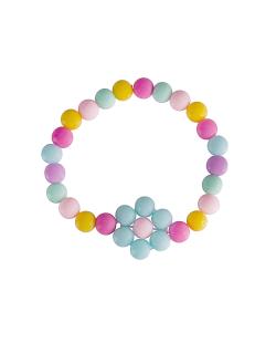 Pulseira candy color daisy azul