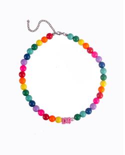 Conjunto colar e pulseiras colorful love