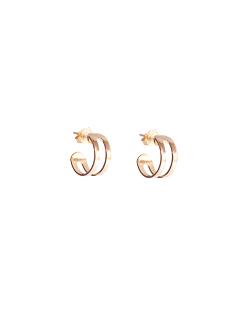 Argola folheada dourada dupla Jasmin
