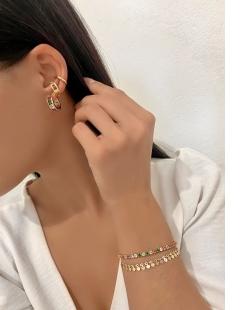 Piercing Fake dourado elo Magnólia