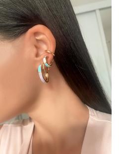 Piercing Fake dourado essencial pequeno Flor