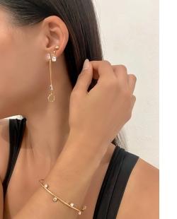 Mix de bijuterias e semi jóias Zircônias Cristal