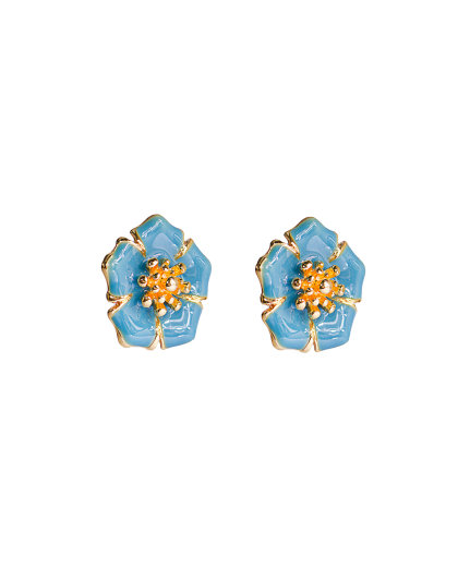 Mix de bijuterias flor Alisso Azul
