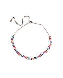 Mix de bijuterias esmaltadas Folhinhas Coloridas