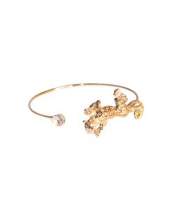 Bracelete MB Semi joia dourado Pantera