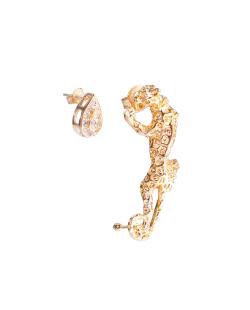 Brinco MB Semi joia dourado Pantera