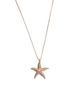 Colar MB Semi joia dourado corrente  pingente Estrela do Mar