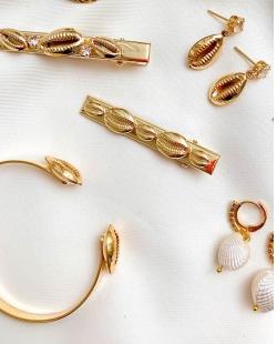 Bracelete MB Semi joia dourado Buzios
