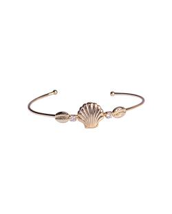 Bracelete MB Semi joia dourado Concha