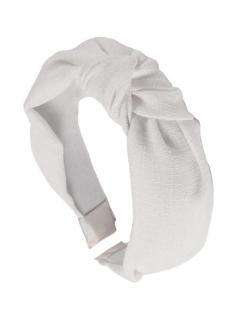 Tiara de linho Nó off-white