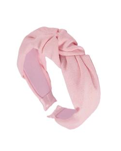 Tiara de linho Nó rosa candy