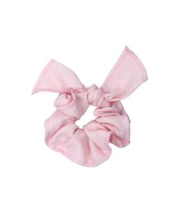 Scrunchie de linho Nó rosa candy