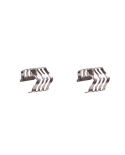 Kit 2 de piercings fake Aço prateado ondulado