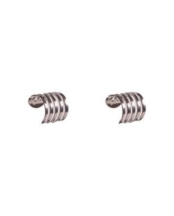 Kit 2 piercings fakes Aço prateado delicado