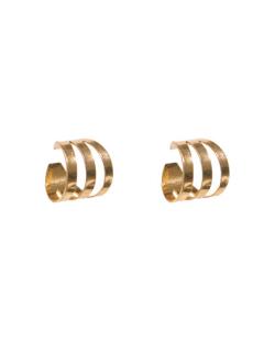 Kit 2 piercings fakes Aço dourado