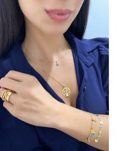 Kit 3 anéis trançados diferentes dourado