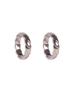 Kit 2 anéis trançados prateado