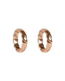 Kit 2 anéis trançados dourado