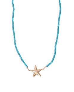 Escapulário MB Semi joia cristais turquesa Estrela do Mar